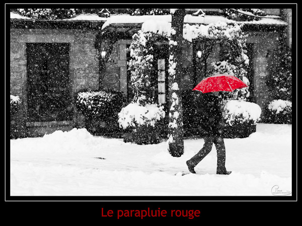 Le parapluie rouge - Reproduction